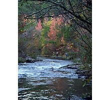 Fishing The River At Beavers Bend Photographic Print