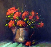 The red carnations by Ivana Pinaffo