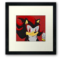 Shadow Hedgehog Framed Print
