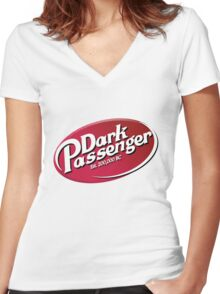 Dark Passenger Women's Fitted V-Neck T-Shirt