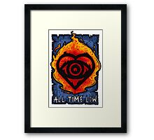 Back to the Future Hearts Framed Print
