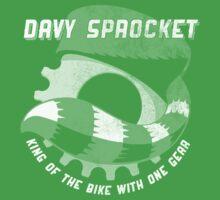 Davy Sprocket Logo - white by Adam Cooper