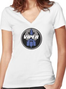 Rebel Viper Alliance  Women's Fitted V-Neck T-Shirt