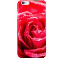 selective focus close up of a red rose flower iPhone Case/Skin