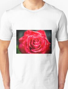 selective focus close up of a red rose flower Unisex T-Shirt
