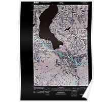 USGS Topo Map Washington State WA Issaquah 20110504 TM Inverted Poster