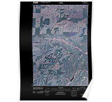 USGS Topo Map Washington State WA Sassin 20110401 TM Inverted Poster