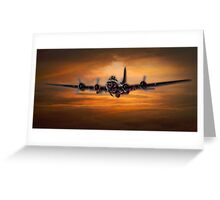 B17 Battle Scarred but Heading Home Greeting Card
