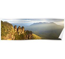 Three Sisters Sunset, Blue Mountains, NSW, Australia Poster