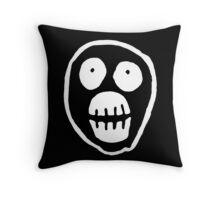 The Mighty Boosh – Big Mask (White) Throw Pillow