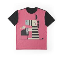 Music Zebra Graphic T-Shirt