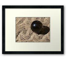 Crystal Sphere on Waves of Sand Framed Print