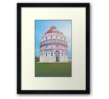Painting of the Cathedral of Pisa Framed Print