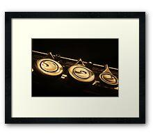 Flute 4 Framed Print