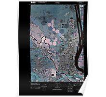 USGS Topo Map Washington State WA Richland 20110407 TM Inverted Poster