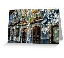 Facade in Lisbon, Portugal Greeting Card