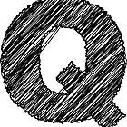 Sketchy Letter Series - Letter Q by JHMimaging
