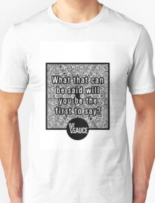 Vsauce Merchandise (Video: Messages for the Future) Unisex T-Shirt