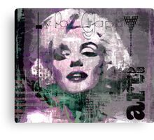Marilyn and Typography Canvas Print