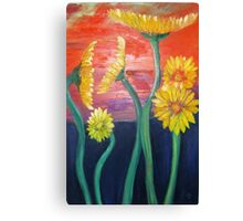 Gerberas- Oil Painting Canvas Print