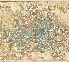 Vintage Map of Berlin Germany (1904) by BravuraMedia