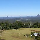 'Glasshouse Mountains' from Blackbutt. Queensland. by Rita Blom