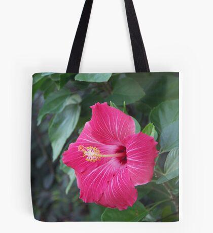 Veined Hibiscus Tote Bag