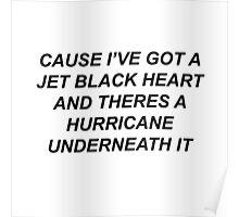 5SOS- JET BLACK HEART  Poster