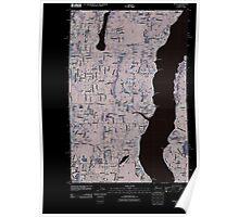 USGS Topo Map Washington State WA Olalla 20110422 TM Inverted Poster
