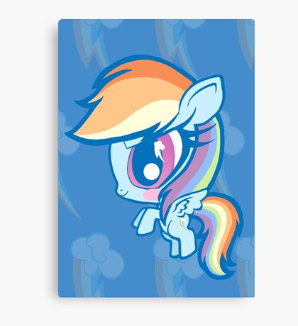 Weeny My Little Pony- Rainbow Dash Canvas Print