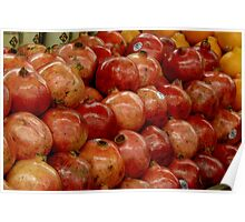 Pomegranates for sale Poster