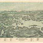 Vintage Pictorial Map of Lake Winnipesaukee (1903)  by BravuraMedia