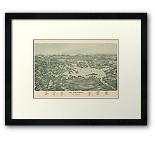 Vintage Pictorial Map of Lake Winnipesaukee (1903)  Framed Print
