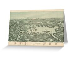Vintage Pictorial Map of Lake Winnipesaukee (1903)  Greeting Card