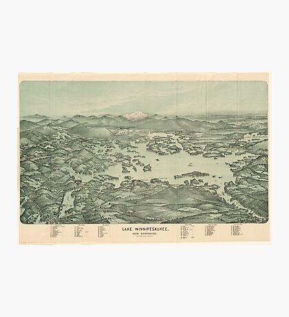Vintage Pictorial Map of Lake Winnipesaukee (1903)  Photographic Print