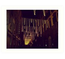 Florence decorated for Christmas Art Print