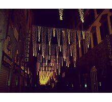 Florence decorated for Christmas Photographic Print