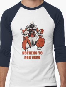 Nothing to see here. Men's Baseball ¾ T-Shirt