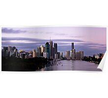 Brisbane City sunset Poster
