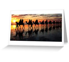 """As The Sun Sets"" Greeting Card"