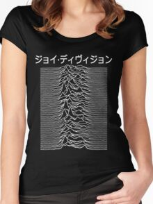 Japanese Text - Joy Women's Fitted Scoop T-Shirt