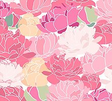 Vintage Rose Peony Flower Pattern by sale