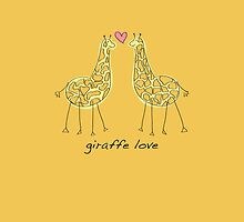Giraffe Love by flyingpantaloon