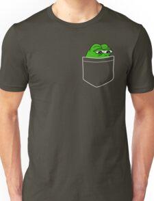 Pocket Pepe The Frog Unisex T-Shirt
