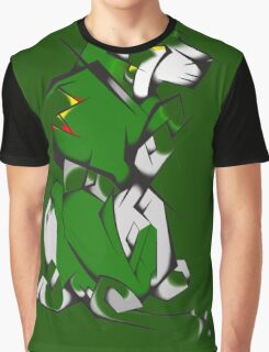 Green Voltron Lion Cubist Graphic T-Shirt