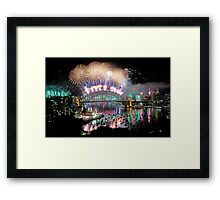 Simply The Best ! - Sydney NYE Fireworks  #4 Framed Print
