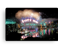 Simply The Best ! - Sydney NYE Fireworks  #4 Canvas Print