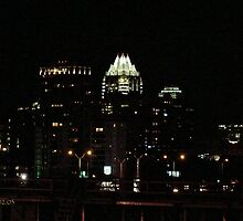 Austin at Night - A View from East of the City  by Jack McCabe