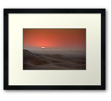 Awash in a sea of sleeping sand Framed Print