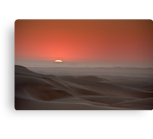 Awash in a sea of sleeping sand Canvas Print